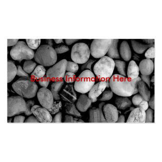 pebbles black and white, business card template