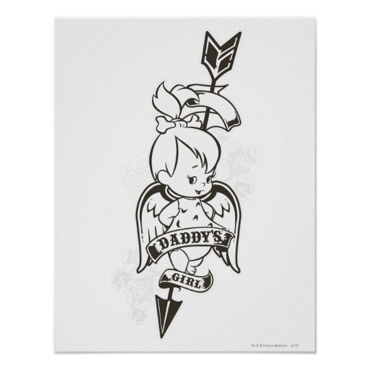 PEBBLES™ Daddy's Girl B&W Poster