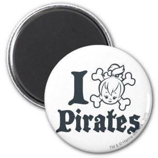 PEBBLES™ el pirata Imán Redondo 5 Cm