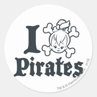 PEBBLES™ el pirata Etiquetas Redondas