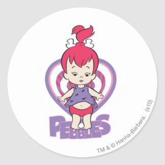 PEBBLES™ From Bedrock Classic Round Sticker
