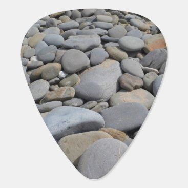 Beach Themed Pebbles Guitar Pick