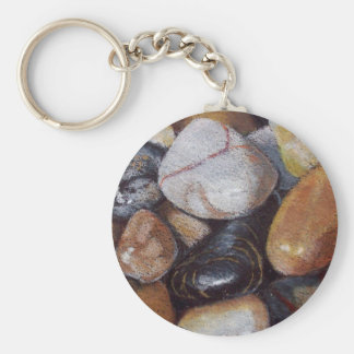 Pebbles in Color Pencil Keychain