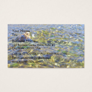 Pebbles in flowing water business card