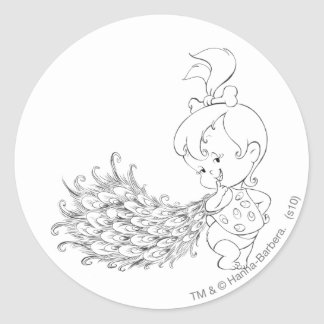PEBBLES™ In Peacock Round Sticker