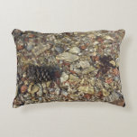 Pebbles in Taylor Creek Water Nature Photography Accent Pillow