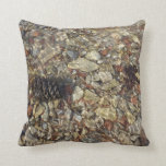 Pebbles in Taylor Creek Water Nature Photography Throw Pillow