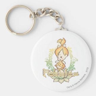PEBBLES™ in the Tropics Basic Round Button Keychain