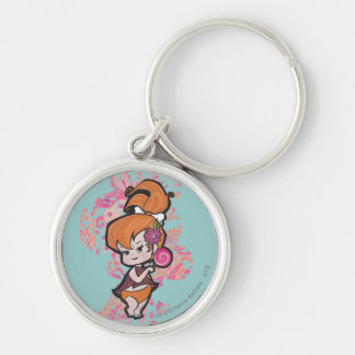 PEBBLES™ Loli Silver-Colored Round Keychain