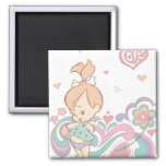 PEBBLES™ Love Swirls 2 Inch Square Magnet