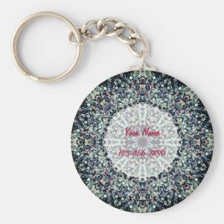 Pebbles Mandala Keychain