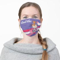 PEBBLES™ on Pink Rainbow Adult Cloth Face Mask