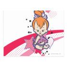PEBBLES™ on Pink Rainbow Postcard