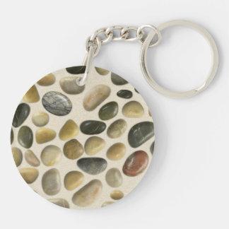 Pebbles on Sand Keychain