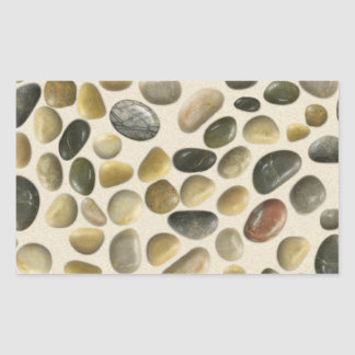 Pebbles on Sand Rectangular Sticker