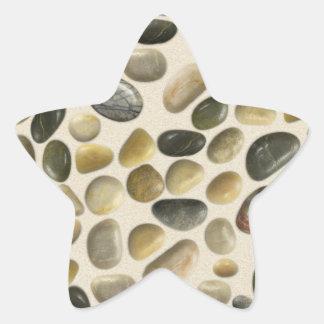 Pebbles on Sand Star Sticker