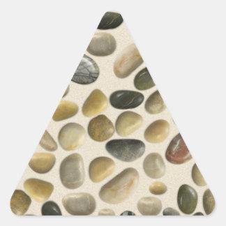 Pebbles on Sand Triangle Sticker