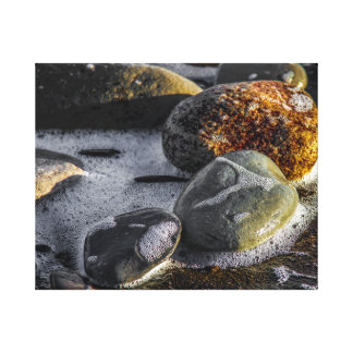 Pebbles On The Beach Canvas Print