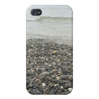 Pebbles on the beach iPhone 4/4S cases