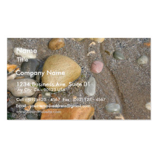 Pebbles On The Beach With A Tiny Crab Business Card Templates