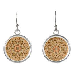 Pebbles Pattern Drop Earrings