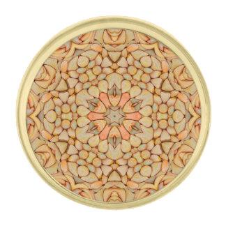 Pebbles Pattern  Lapel Pins, round or square Gold Finish Lapel Pin