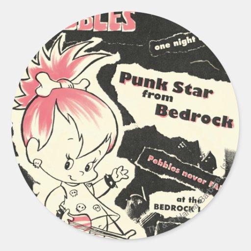 PEBBLES™ Punk Rock Legend Round Stickers