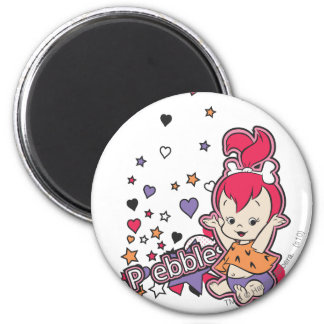 PEBBLES™ Purple Heart Imán Redondo 5 Cm