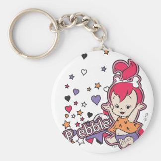 PEBBLES™ Purple Heart Llavero Redondo Tipo Pin