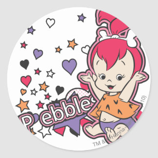 PEBBLES™ Purple Heart Pegatina Redonda