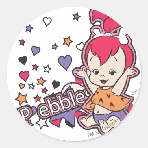 PEBBLES™ Purple Heart Round Stickers