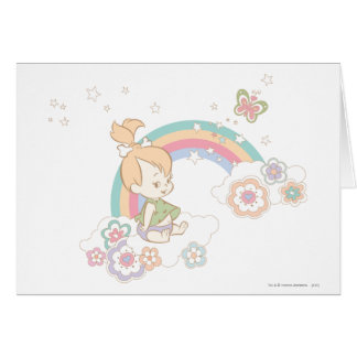 PEBBLES™ Rainbow and Flower Clouds Card