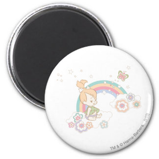 PEBBLES™ Rainbow and Flower Clouds Magnet