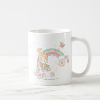 PEBBLES™ Rainbow and Flower Clouds Classic White Coffee Mug