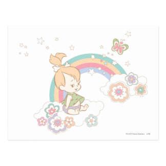 PEBBLES™ Rainbow and Flower Clouds Postcard