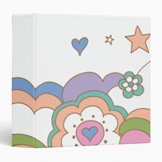 PEBBLES™ Rainbow Cloud Vinyl Binders
