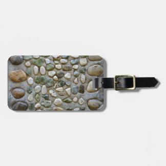 Pebbles Rocks Stones Pattern Luggage Tag