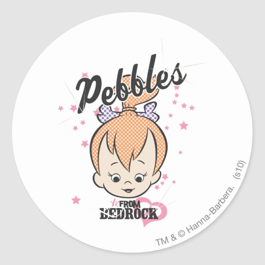 PEBBLES™ Stars and Hearts Classic Round Sticker