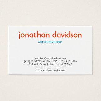 PEBBLES TYPOGRAPHIC (Horizontal) Business Card