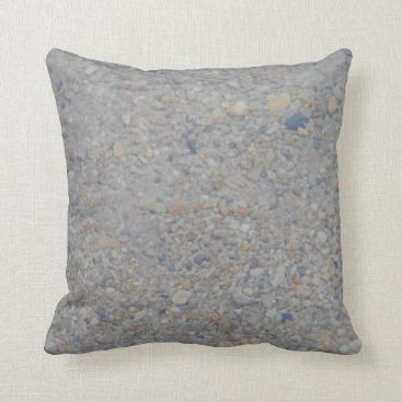 Beach Themed pebbles under water almost SOLID brown tan gray Throw Pillow