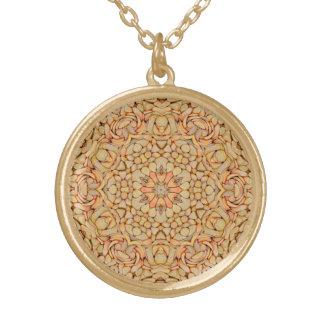 Pebbles  Vintage Kaleidoscope  Pattern Necklace
