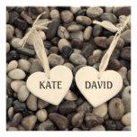 Pebbles Wedding Invitation Invitations