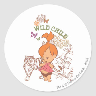 PEBBLES™ Wild Child Classic Round Sticker