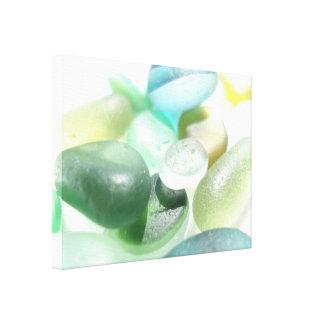 Pebls de cristal del mar multi de la playa de impresion de lienzo