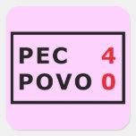 PEC - 4 Povo - 0 Square Sticker