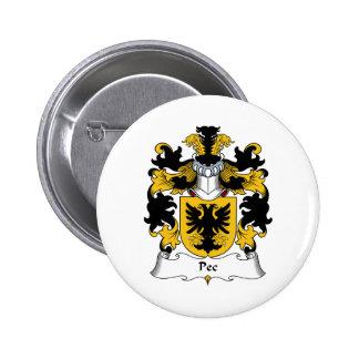 Pec Family Crest Buttons