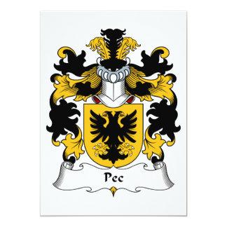 Pec Family Crest Card