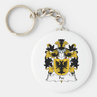 Pec Family Crest Keychain