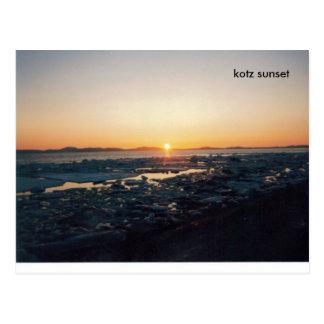PECADO de KOTZ (2), puesta del sol del kotz Postal