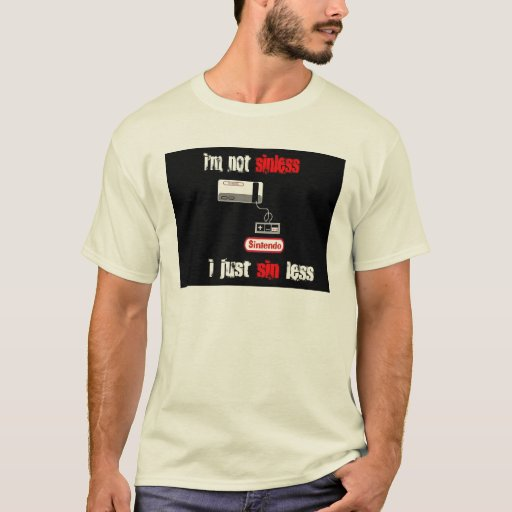 pecado de la edición del sintendo menos camiseta